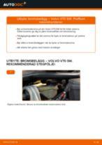 Byta Bromsbeläggsats bak och fram VOLVO själv - online handböcker pdf