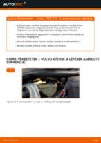 VOLVO V70 II (SW) első bal jobb Kerékcsapágy cseréje: kézikönyv pdf