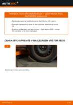 Brezplačna spletna navodila kako obnoviti Šipka stabilizatorja OPEL MERIVA