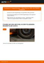 Schritt-für-Schritt-PDF-Tutorial zum Hauptscheinwerfer-Austausch beim OPEL MERIVA