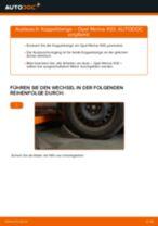 Hilfreiche Fahrzeug-Reparaturanweisung für hinten rechts Stabistrebe OPEL