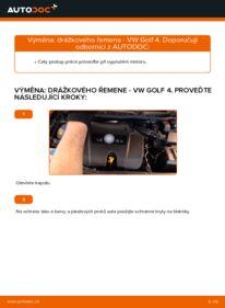 Jak provést výměnu: Klinovy zebrovany remen na 1.4 16V Golf 4