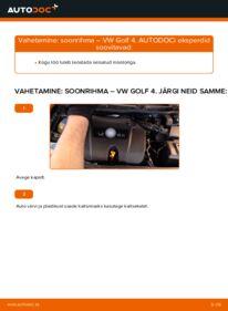 Kuidas välja vahetamist läbi viia: 1.4 16V Golf 4 Soonrihm