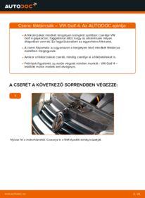 Hogyan végezze a cserét: VW GOLF Féktárcsa