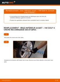 Comment effectuer un remplacement de Bras de Suspension sur 1.4 16V Golf 4