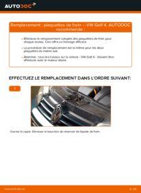 Comment effectuer un remplacement de Plaquettes de Frein sur 1.4 16V Golf 4