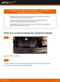 Come effettuare una sostituzione di Molla Ammortizzatore su VW ? Dai un'occhiata alla nostra guida dettagliata e scopri come farlo