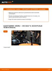 Kuidas välja vahetamist läbi viia: 1.9 TDI Golf 5 Vedrustus