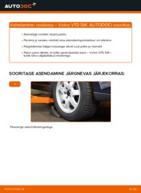 Kuidas välja vahetamist läbi viia: 2.4 Volvo V70 SW Roolivardapea