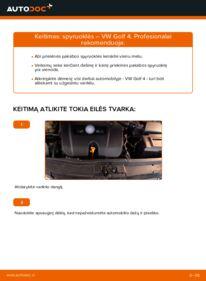 Kaip atlikti keitimą: 1.4 16V Golf 4 Spyruoklės