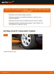 Kaip atlikti keitimą: 2.4 Volvo V70 SW Skersinės vairo trauklės galas