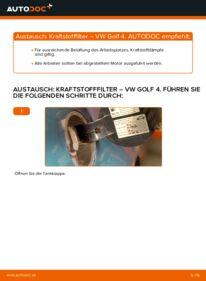 Wie der Wechsel durchführt wird: Kraftstofffilter 1.4 16V Golf 4 tauschen
