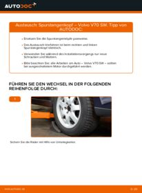 Wie der Wechsel durchführt wird: Spurstangenkopf 2.4 Volvo V70 SW tauschen