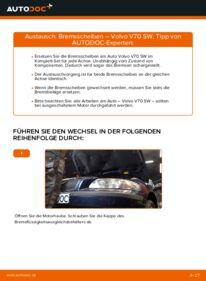 Wie der Wechsel durchführt wird: Bremsscheiben 2.4 Volvo V70 SW tauschen