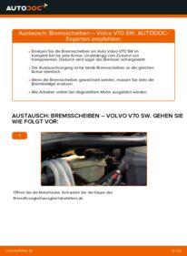 Wie der Wechsel durchführt wird: Bremsscheiben Volvo V70 SW 2.4 2.4 D5 2.4 T tauschen