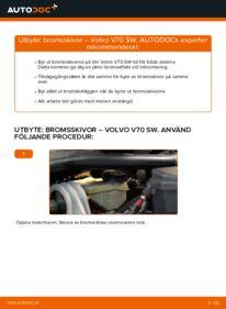 Så byter du Bromsskivor på 2.4 Volvo V70 SW