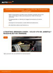 Slik bytter du Bremseklosser på VOLVO V70