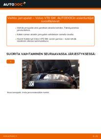 Kuinka vaihtaa Jarrupalat 2.4 Volvo V70 SW -autoon