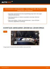 Kuidas välja vahetamist läbi viia: 2.4 Volvo V70 SW Piduriklotsid