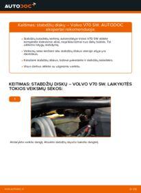Kaip atlikti keitimą: 2.4 Volvo V70 SW Stabdžių diskas