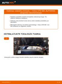 Kaip atlikti keitimą: 2.4 Volvo V70 SW Stabdžių Kaladėlės