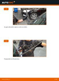 Kaip atlikti keitimą: 1.7 CDTI (E75) Opel Meriva x03 Valytuvo gumelė