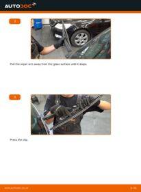 How to carry out replacement: Wiper Blades on 1.7 CDTI (E75) Opel Meriva x03