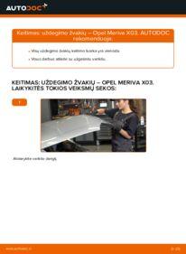 Kaip atlikti keitimą: 1.7 CDTI (E75) Opel Meriva x03 Uždegimo žvakė