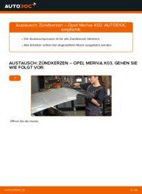 Wie der Wechsel durchführt wird: Zündkerzen Opel Meriva x03 1.7 CDTI (E75) 1.6 16V (E75) 1.4 16V Twinport (E75) tauschen