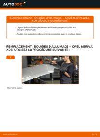 Comment effectuer un remplacement de Bougies d'Allumage sur 1.7 CDTI (E75) Opel Meriva A