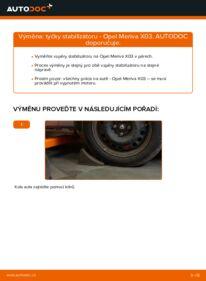 Jak provést výměnu: Zkrutna tyc na 1.7 CDTI (E75) Opel Meriva x03