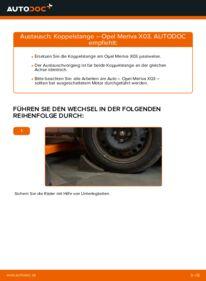 Wie der Wechsel durchführt wird: Koppelstange 1.7 CDTI (E75) Opel Meriva x03 tauschen