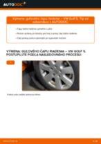 Ako vymeniť guľový čap riadenia na VW Golf 5 – návod na výmenu