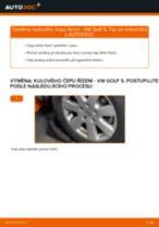 Jak vyměnit kulový čep řízení na VW Golf 5 – návod k výměně