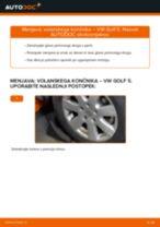Avtomehanična priporočil za zamenjavo VW Golf 3 2.0 Kolesni lezaj