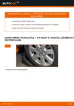 Kuidas vahetada VW Golf 5 rooliotsa – õpetus