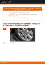Kormányösszekötő gömbfej-csere VW Golf 5 gépkocsin – Útmutató