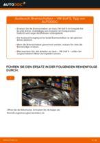 Hinweise des Automechanikers zum Wechseln von VW Golf 5 1.6 Bremsscheiben