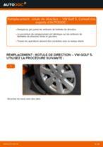Comment changer : rotule de rirection sur VW Golf 5 - Guide de remplacement