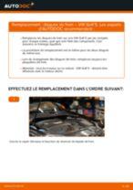 Comment changer Moteur d'Essuie-Glace arrière et avant VW GOLF V (1K1) - manuel en ligne