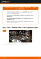 Comment changer : disques de frein avant sur VW Golf 5 - Guide de remplacement