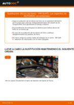 Cómo cambiar: discos de freno de la parte trasera - VW Golf 5 | Guía de sustitución