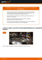 Cómo cambiar: discos de freno de la parte delantera - VW Golf 5 | Guía de sustitución