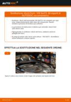 Come cambiare dischi freno della parte posteriore su VW Golf 5 - Guida alla sostituzione