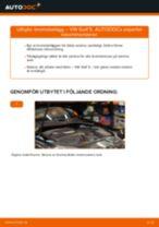 PDF guide för byta: Bromsklossar VW Golf V Hatchback (1K1) bak och fram