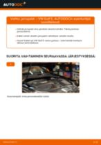 Kuinka vaihtaa jarrupalat taakse VW Golf 5-autoon – vaihto-ohje