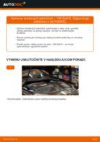 Ako vymeniť zadné brzdové platničky na VW Golf 5 – návod na výmenu