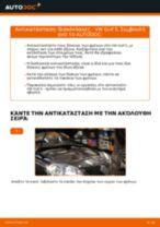 Πώς να αλλάξετε δισκόπλακες εμπρός σε VW Golf 5 - Οδηγίες αντικατάστασης