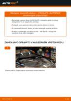 Kako zamenjati avtodel zavorni diski zadaj na avtu VW Golf 5 – vodnik menjave