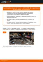 Como mudar discos de travão da parte traseira em VW Golf 5 - guia de substituição